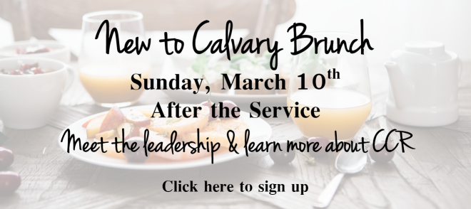 New to Calvary Brunch